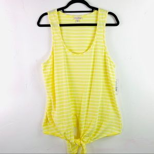 Maison Jules Yellow Tie up tank top